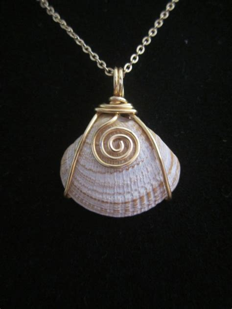 how to make jewelry with shells wire wrapped shell pendant wire