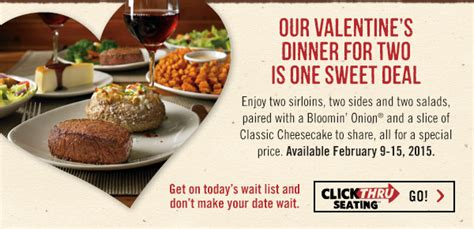 outback valentines special 15 through february 12th outback the landings