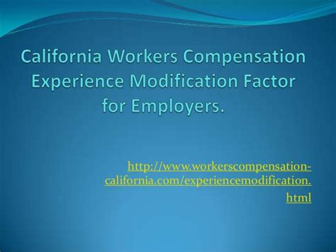 California Workers Compensation Search California Workers Compensation Experience Modification Factor