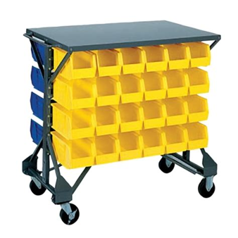 Storage Bin Cart Akro Mils 174 Bin Cart And Storage Bins U S Plastic Corp