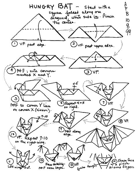 How To Make A Paper Bat - origami learn how to make themed origami