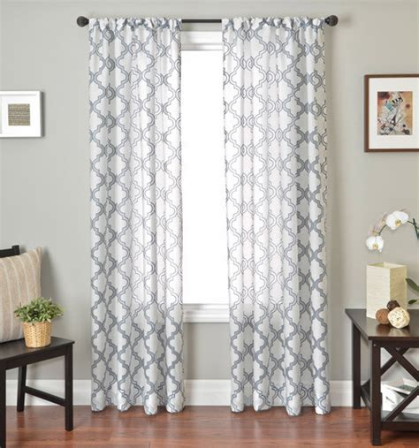 midcentury modern curtains blindsgalore signature drapery panel quatrefoil sheer