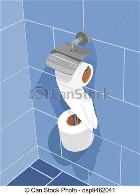 bathroom video clip vector clip art of set of toilet paper on a wall of