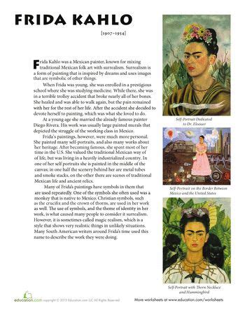 frida kahlo biography artwork frida kahlo biography