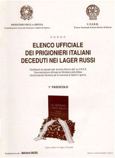 elenco internati militari italiani notizie sui dispersi