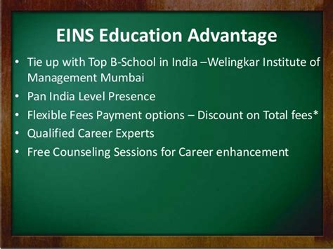 Welingkar Mba Fees by Distance Mba In Services Excellence From Eins Education