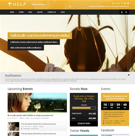 Ngo Template best nonprofit charity html templates free yoursfriend