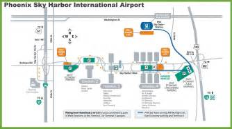 Phoenix Terminal Map by Sky Harbor Airport Map Sheascreations