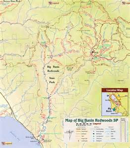 Big Basin Redwoods State Park Map by Big Basin Redwoods State Park Trail Map Boulder Creek