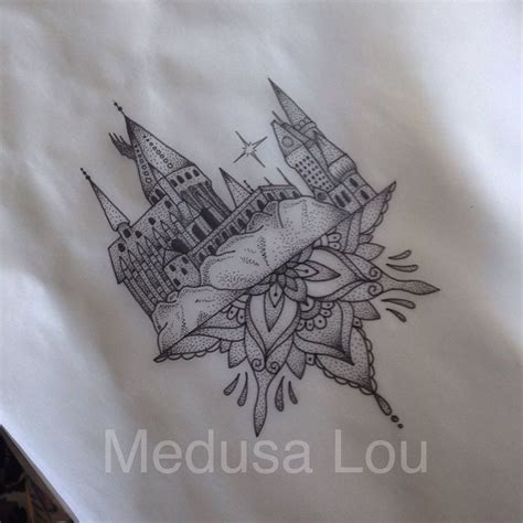 hogwarts castle tattoo hogwarts castle inspired by medusa lou