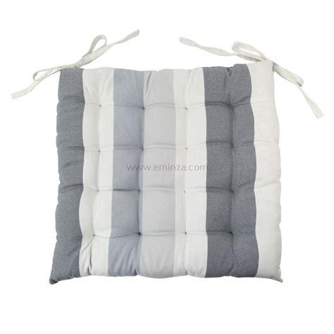 cuscini trapuntati cuscino trapuntato per sedia righe grigio chiaro