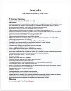 Senior Accountant Resume Exle by Senior Accountant Resume Accounting Resume Sles