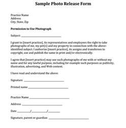 Photographic Release Form Template by Sle Photo Release Form Courtesy Of Dr Eric Garcia And