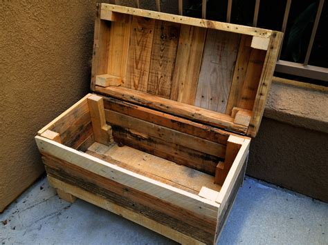 Handmade Wooden Chest - rustic chest rugged style handmade pallet wood chest bench
