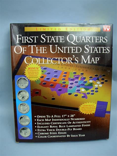 quarter map of the united states state quarters of the united states collectors map