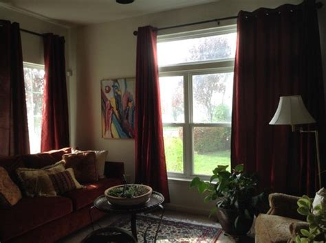 different curtains same room different curtains in same room custom window treatments