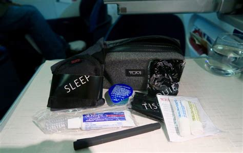 Tumi Travel Kits From Delta flight review delta air lines business class dl 40 sydney