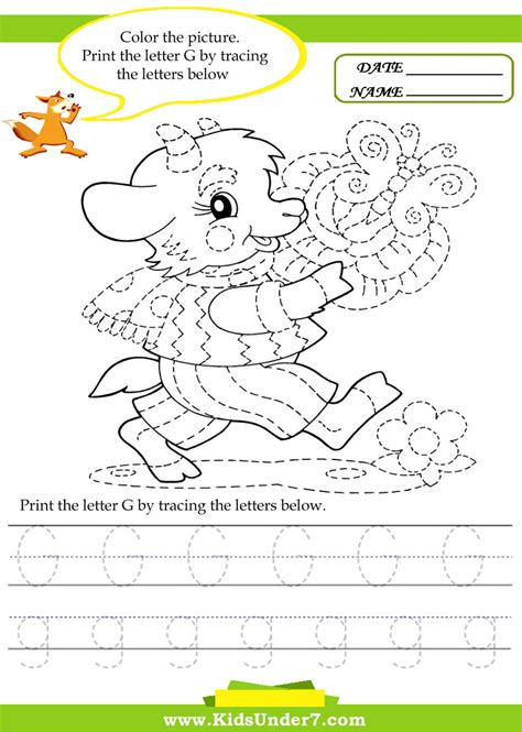 Letter G Worksheets by Free Coloring Pages Of Trace The Letter G