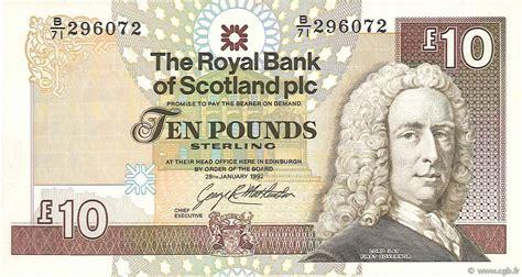 bank of scotland kontakt 10 pounds scotland 1992 p 353a b74 0193 banknoten