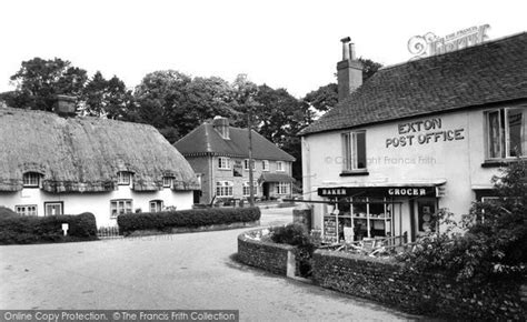 exton post office and shoe inn c 1955 francis frith