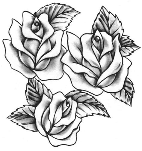 rose stencil tattoo tattoos designs and ideas page 37 green