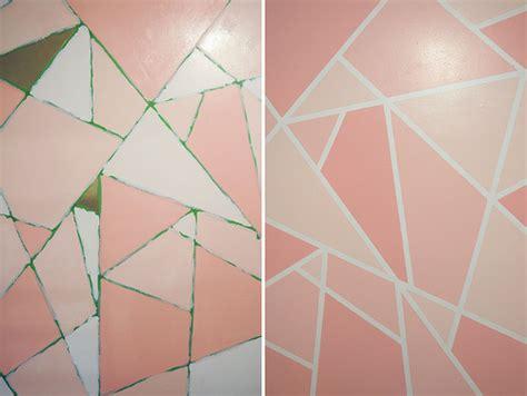 geometric pattern diy diy geometric paint glitter wall