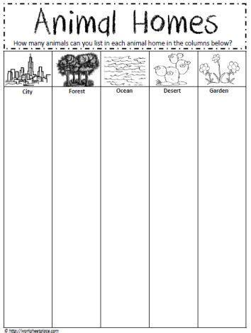 free printable animal homes worksheets best 311 school animals images on pinterest education
