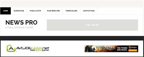 newspaper theme header size theme update to genesis news pro avgjoegeek change log