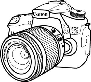 canon camera drawing at getdrawings.com   free for