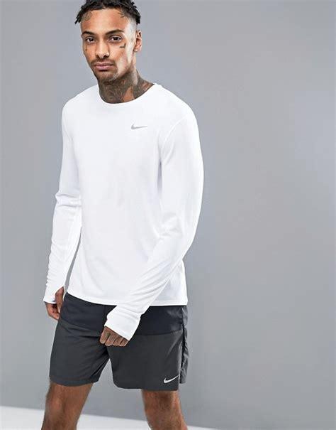 T Shirt Nike Dri Fit Football Sleeve 100 Original 2 nike running nike running dri fit contour sleeve t shirt in white 683521 100