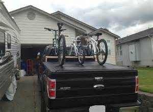 Tonneau Cover Bike Rack F150 Home Made Bike Rack Compatible With Undercover Tonneau