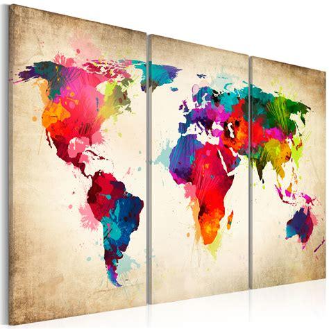 Lebenslauf Bild Selber Machen Leinwand Bilder Fertig Aufgespannt Bild Weltkarte Abstrakt K A 0006 B F Ebay