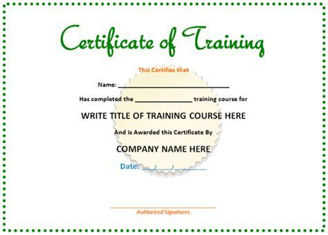 Cpd certificate template free cpd certificate templates doc580456 6 free training certificate templates excel yelopaper Images