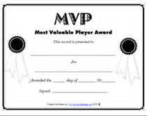 Basketball Mvp Certificate Template by Free Printable Mvp Most Valuable Player Awards