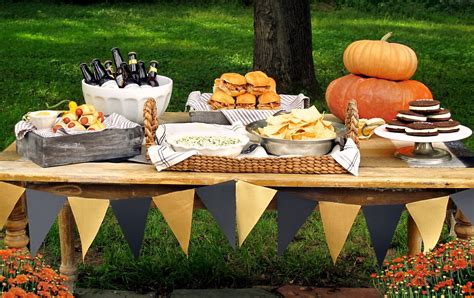 fall backyard party ideas jenny steffens hobick game day tailgate party recipes