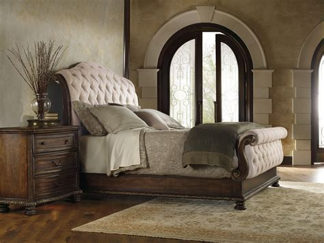 hooker bedroom furniture hooker furniture bedroom adagio king tufted bed 5091 90566