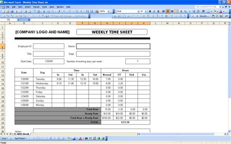 Excel Timesheet Template With Formulas 1 Professional And High Quality Templates Excel Timesheet Template With Formulas