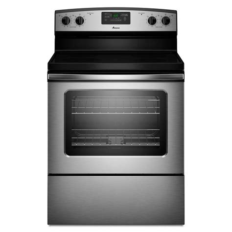 amana 4 8 cu ft electric range with self cleaning oven