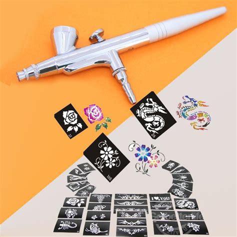spray on tattoos airbrush pen gravity spray gun 100 mixed design
