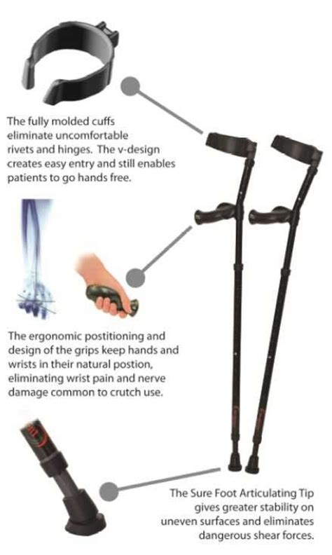 How To Make Crutch Handles More Comfortable by In Motion Forearm Crutches Millennial Mwd7000bk