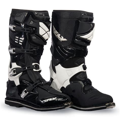 fly motocross boots sector black boot fly racing motocross mtb bmx