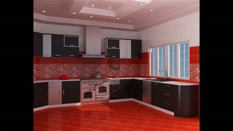 stunning red and black kitchen ideas on small resident