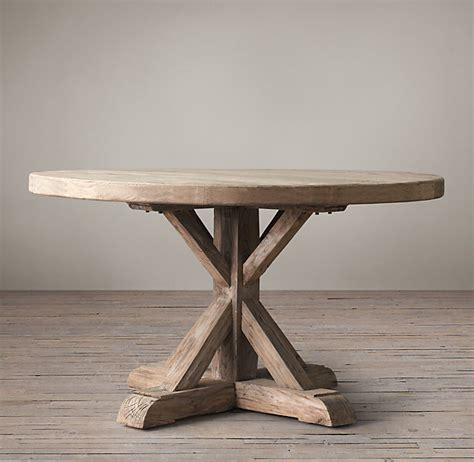 Dining Table Restoration Hardware Distressed Elm Trestle Kitchen Table Hardware