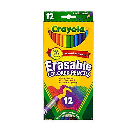 pack of crayola colored pencils crayola erasable colored pencils pack of 12 pencils by
