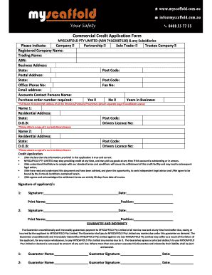 Customer Credit Application Form And Agreement Customer Credit Application Form And Agreement Templates Fillable Printable Sles For Pdf