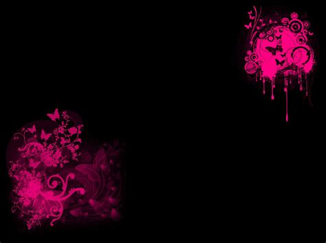 themes black and pink background black pink