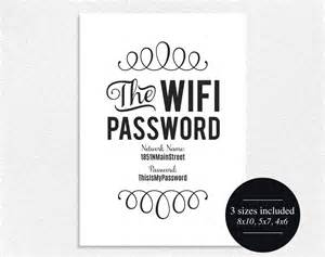 Guest Bedroom Wifi Sign Wifi Password Sign Editable Printable Instant