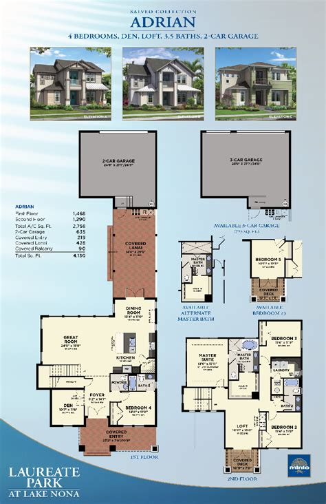 florida floor plans for new homes laureate park at lake nona adrian new homes in orlando