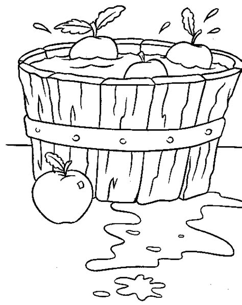 apple cider coloring pages bobbing for apples clipart 20
