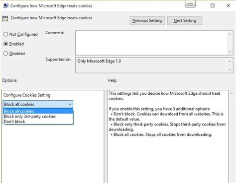 browsers email microsoft edge cookies allow or block allow or block cookies in microsoft edge browser